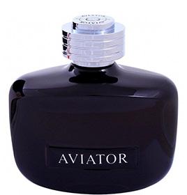 aviator black leather