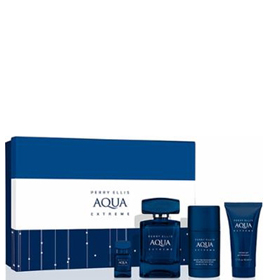 perry ellis aqua extreme set